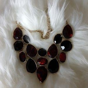 Jewelry - Vintage Red/Black Velvet Necklace